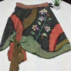 NWOT Rising International Boho Hippee Skirt Med